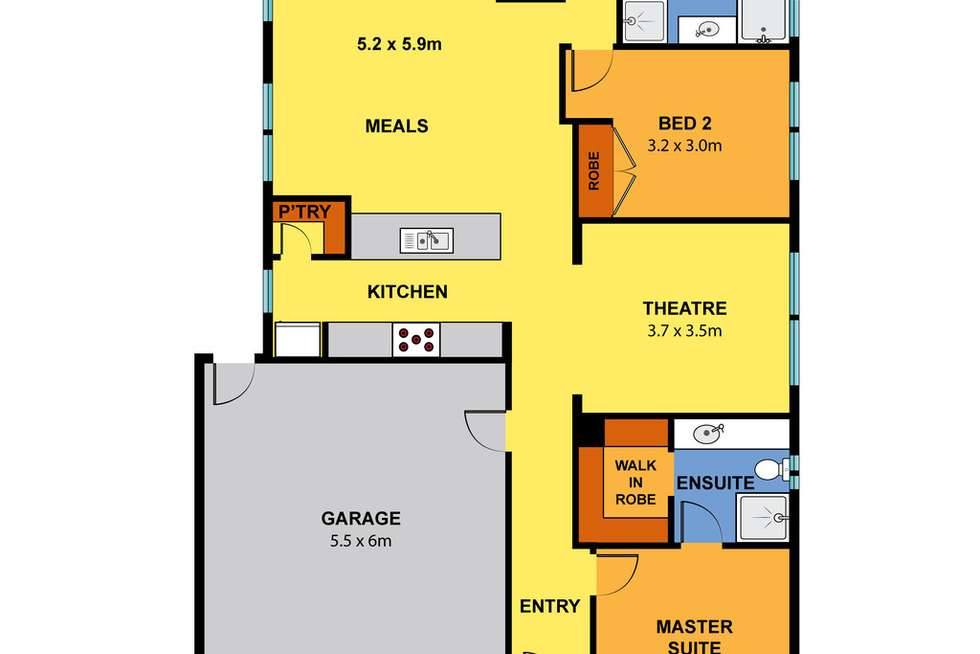 Floorplan of Homely house listing, 17 Pottery Avenue, Point Cook VIC 3030