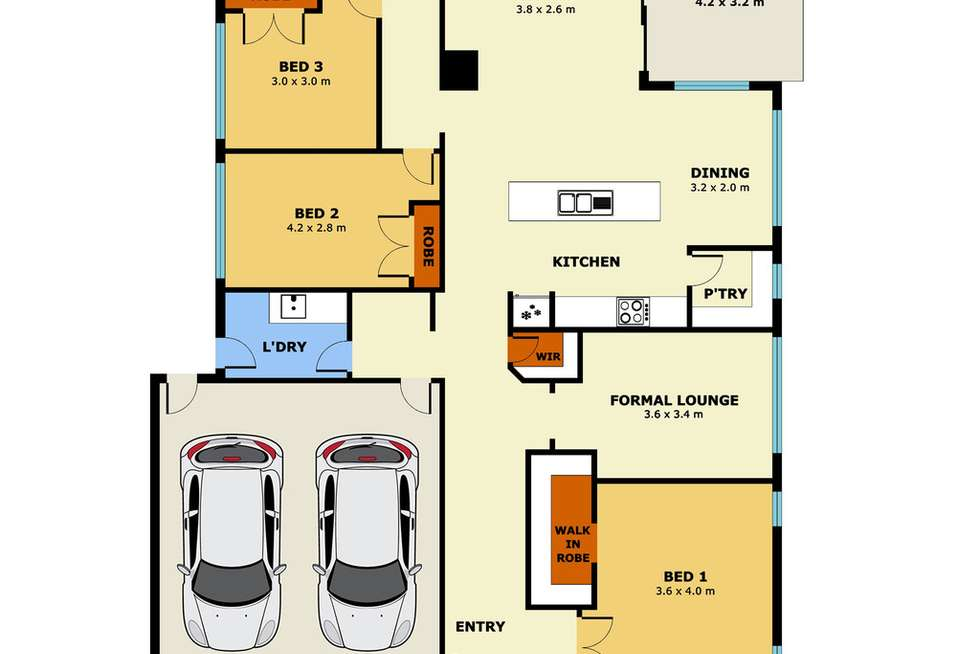Floorplan of Homely house listing, 2 Whitecaps Avenue, Point Cook VIC 3030