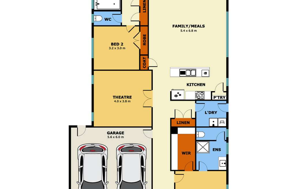 Floorplan of Homely house listing, 9 Rodeo Grove, Point Cook VIC 3030