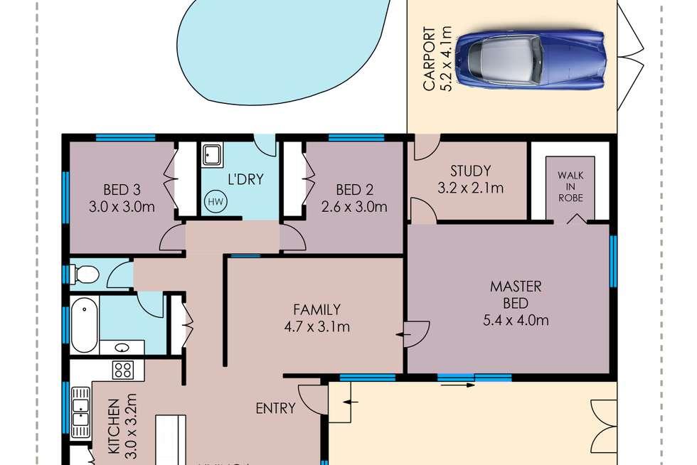 Floorplan of Homely house listing, 14 Allamanda Crescent, Annandale QLD 4814