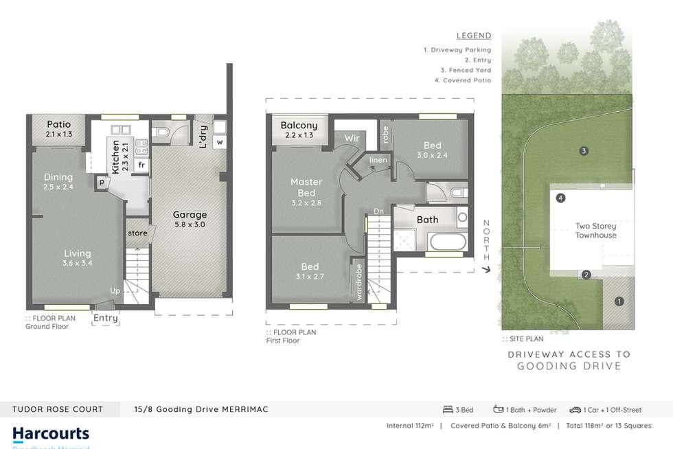 Floorplan of Homely unit listing, 15/8 Gooding Drive, Merrimac QLD 4226
