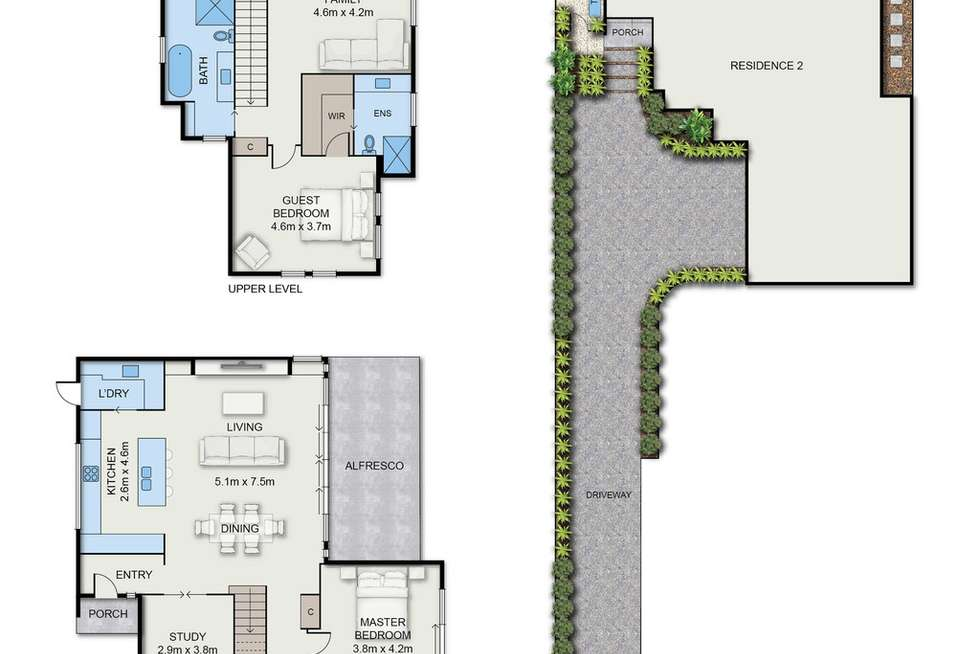 Floorplan of Homely townhouse listing, 3 Winfield Road, Balwyn North VIC 3104