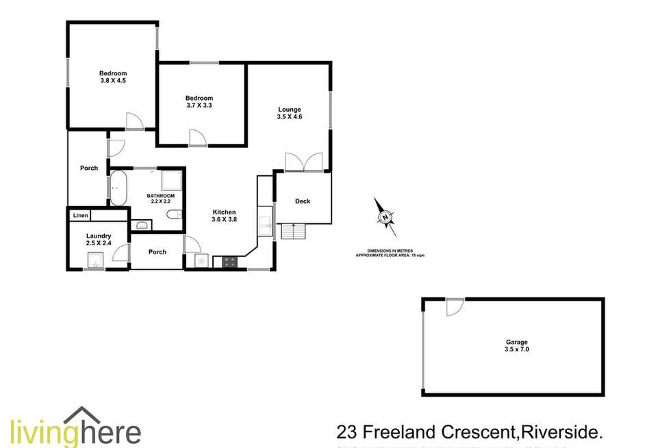Floorplan of Homely house listing, 23 Freeland Crescent, Riverside TAS 7250