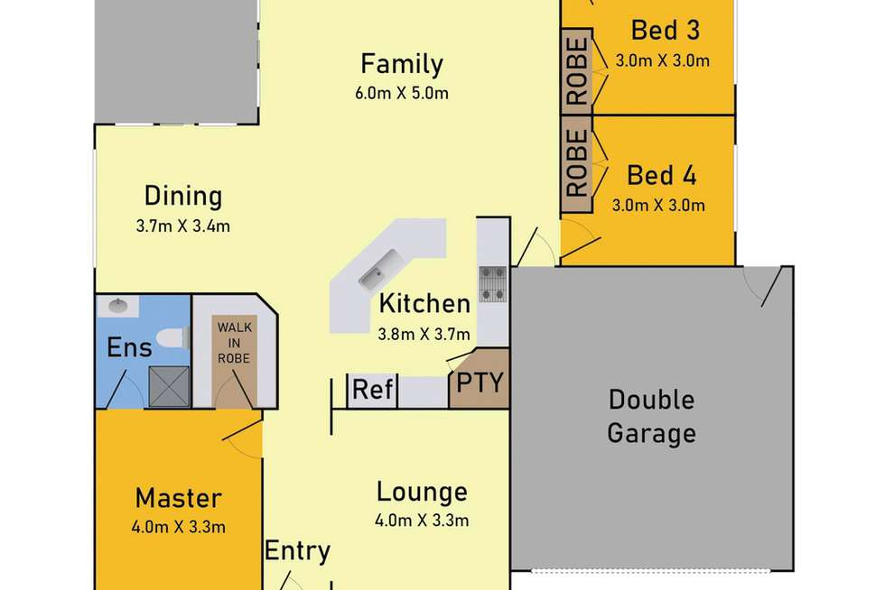 Floorplan of Homely house listing, 18 Kingsfield Way, Truganina VIC 3029