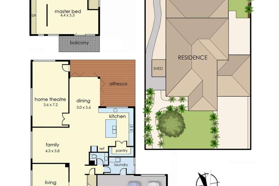 Floorplan of Homely house listing, 117 Marriott Boulevard, Lyndhurst VIC 3975