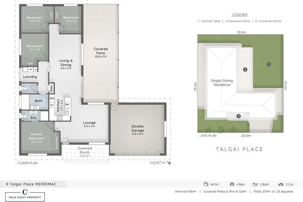Floorplan of Homely house listing, 9 Talgai Place, Merrimac QLD 4226