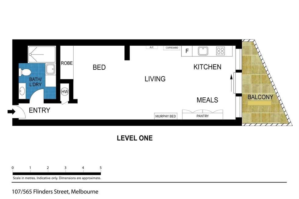 Floorplan of Homely apartment listing, 107/565 Flinders Street, Melbourne VIC 3000