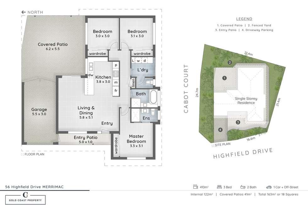 Floorplan of Homely house listing, 56 Highfield Drive, Merrimac QLD 4226