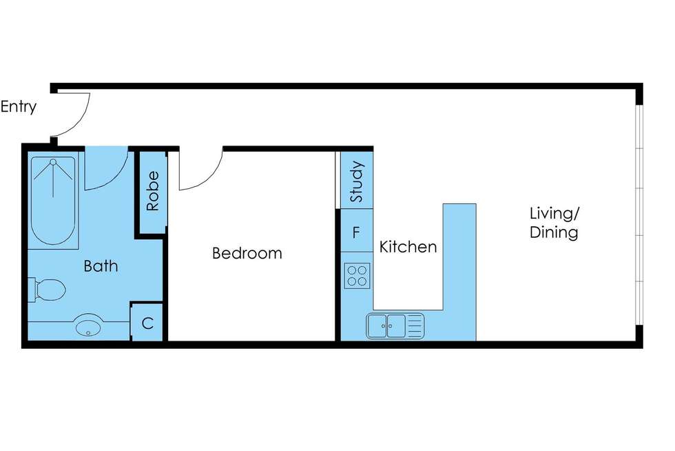 Floorplan of Homely apartment listing, B2/57 Flinders Lane, Melbourne VIC 3000