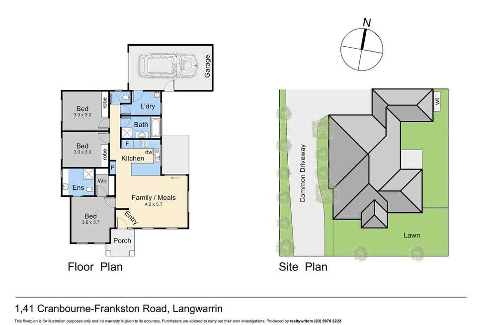Floorplan of Homely unit listing, 1/41 Cranbourne- Frankston Road, Langwarrin VIC 3910