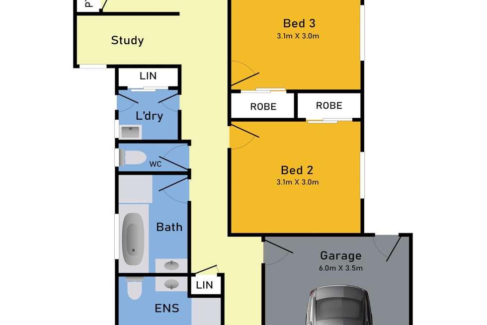 Floorplan of Homely house listing, 3 Cheer Terrace, Tarneit VIC 3029