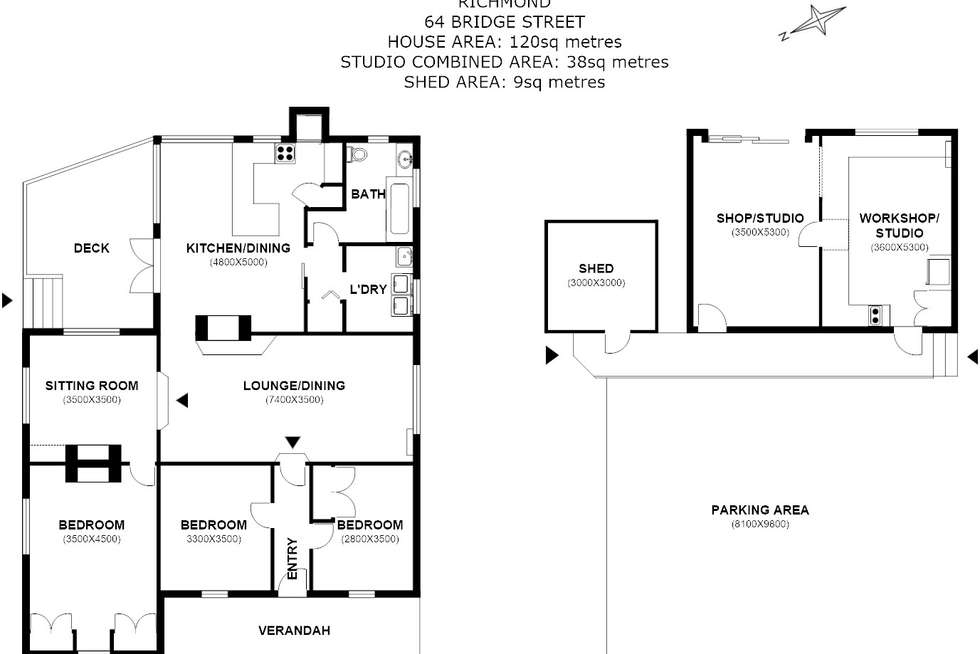 Floorplan of Homely ruralOther listing, 64 Bridge Street, Richmond TAS 7025