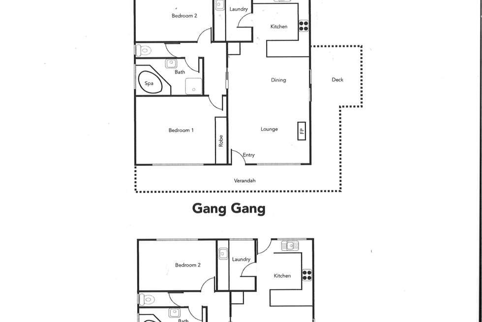 Floorplan of Homely townhouse listing, 320 Grampians Road, Halls Gap VIC 3381
