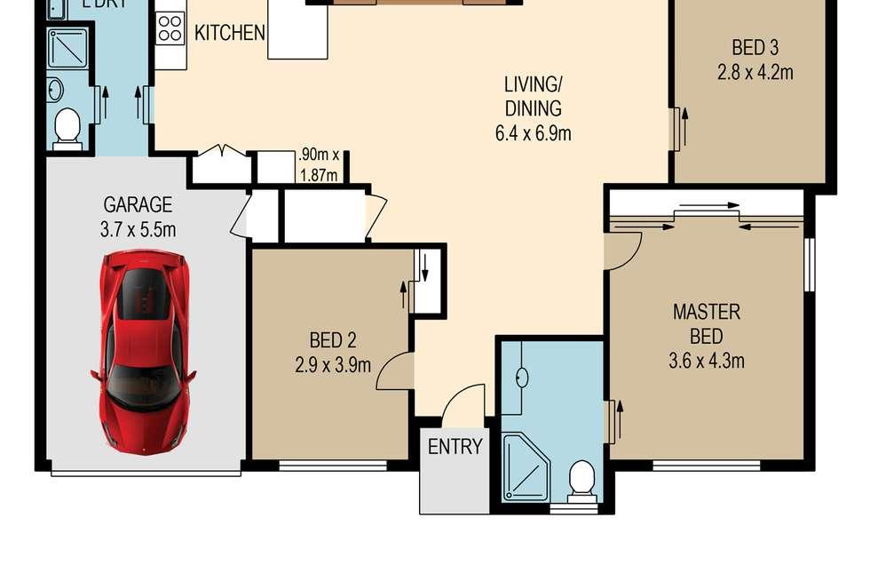 Floorplan of Homely villa listing, 44/119 Sugarwood Grove, Moggill QLD 4070