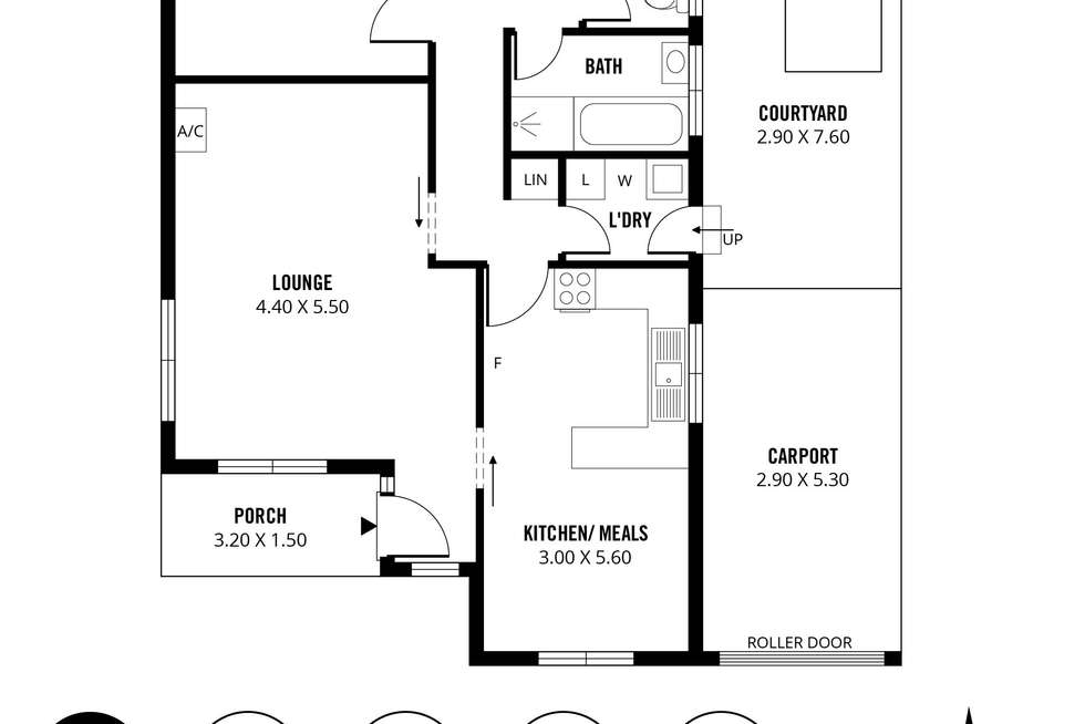 Floorplan of Homely unit listing, 1/15 Marlborough Street, Brighton SA 5048