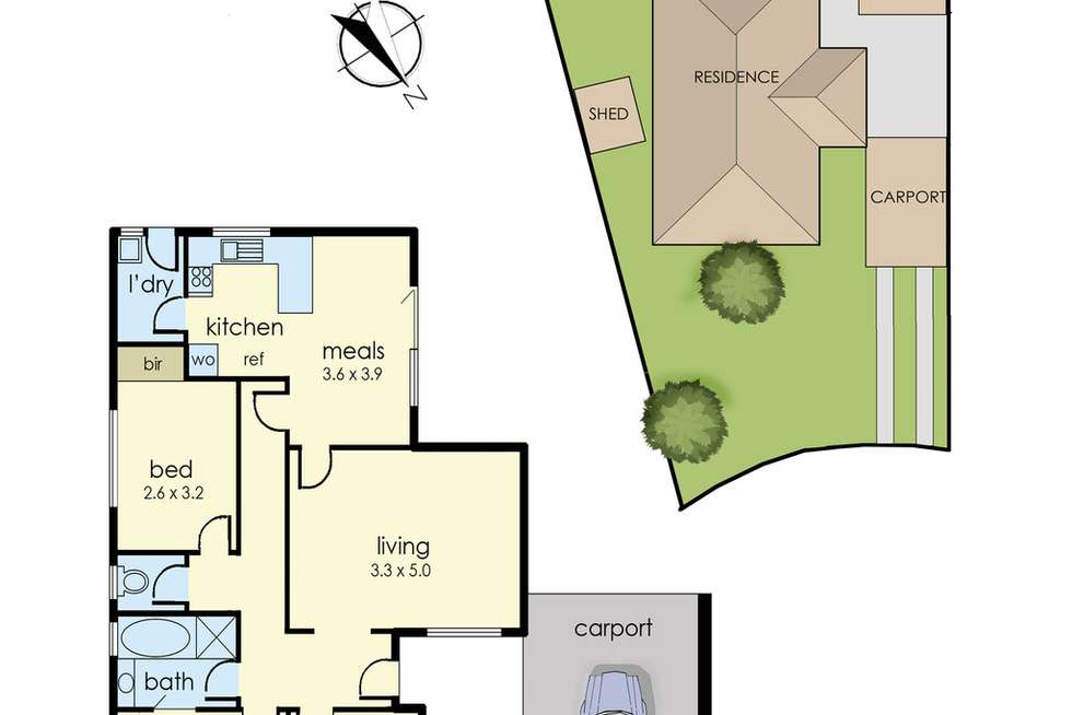 Floorplan of Homely house listing, 28 Judith Street, Dandenong North VIC 3175