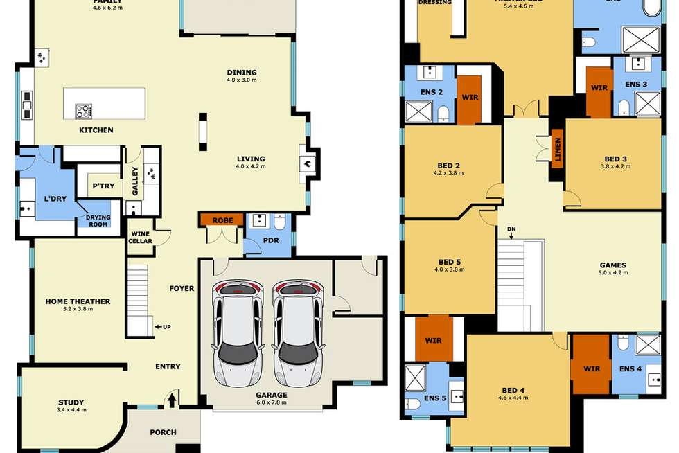 Floorplan of Homely house listing, 9 Gramercy Blvd, Point Cook VIC 3030