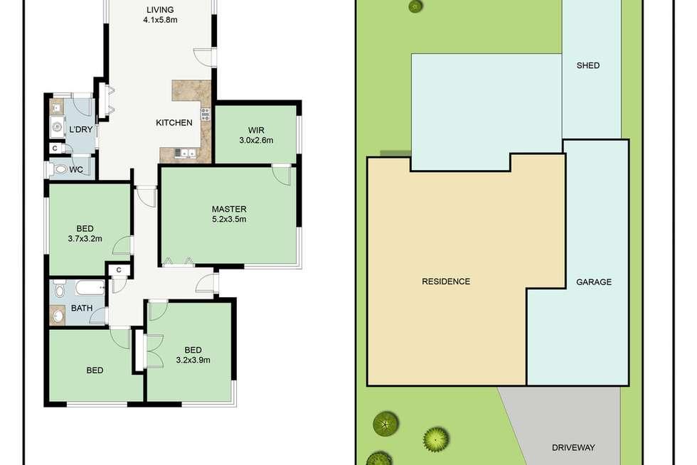 Floorplan of Homely house listing, 11 Lola Street, Mulgrave VIC 3170
