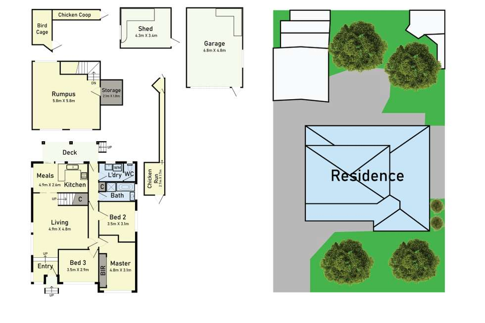 Floorplan of Homely house listing, 58 Roebourne Crescent, Campbellfield VIC 3061