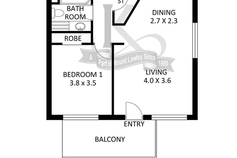 Floorplan of Homely apartment listing, 10/555 William Street, Mount Lawley WA 6050