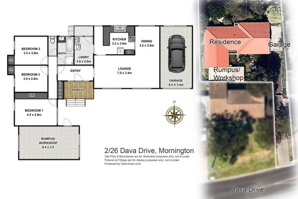 Floorplan of Homely house listing, 2/26 Dava Drive, Mornington VIC 3931