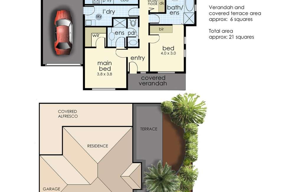 Floorplan of Homely unit listing, 2 Beardsworth Avenue, Chelsea VIC 3196