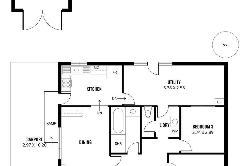 Floorplan of Homely house listing, 35 Elizabeth Street, Evandale SA 5069