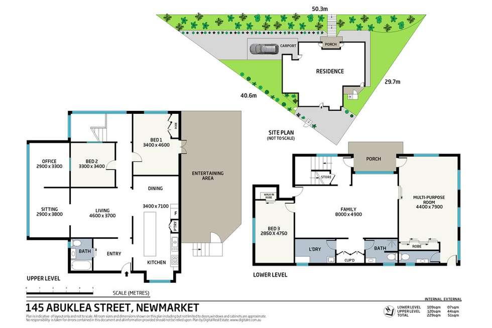 Floorplan of Homely house listing, 145 Abuklea Street, Newmarket QLD 4051