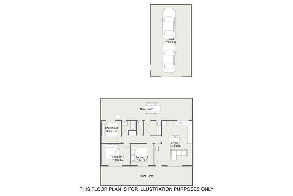 Floorplan of Homely house listing, 7 WATSON AVENUE, Lucindale SA 5272