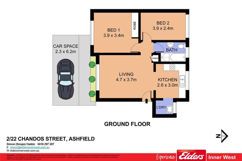 Floorplan of Homely unit listing, 2/22 Chandos Street, Ashfield NSW 2131