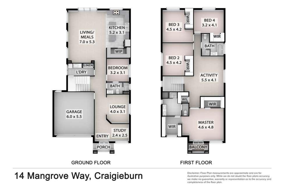 Floorplan of Homely house listing, 14 Mangrove Way, Craigieburn VIC 3064