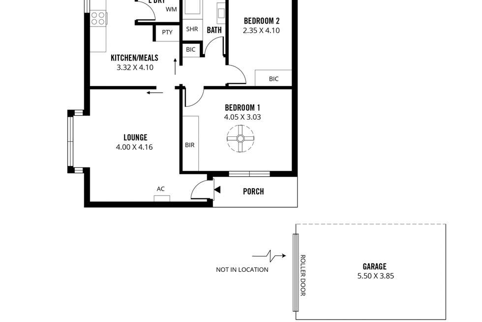 Floorplan of Homely unit listing, 1/217 Belair Road, Torrens Park SA 5062