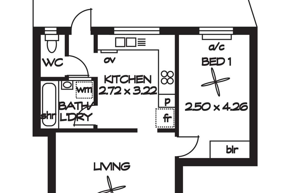 Floorplan of Homely unit listing, 5/ 635 - 637 South Road, Black Forest SA 5035
