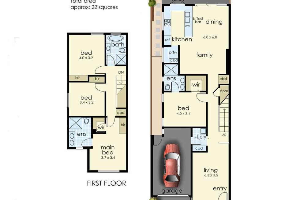 Floorplan of Homely townhouse listing, 1/80 Ella Grove, Chelsea VIC 3196