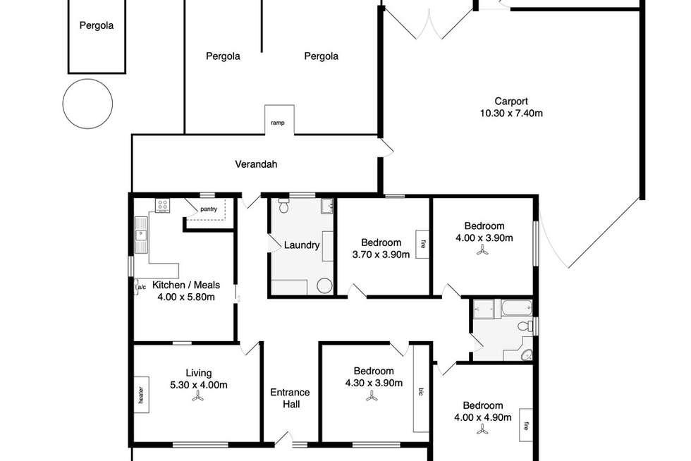 Floorplan of Homely house listing, 21-23 HILL STREET, Victor Harbor SA 5211