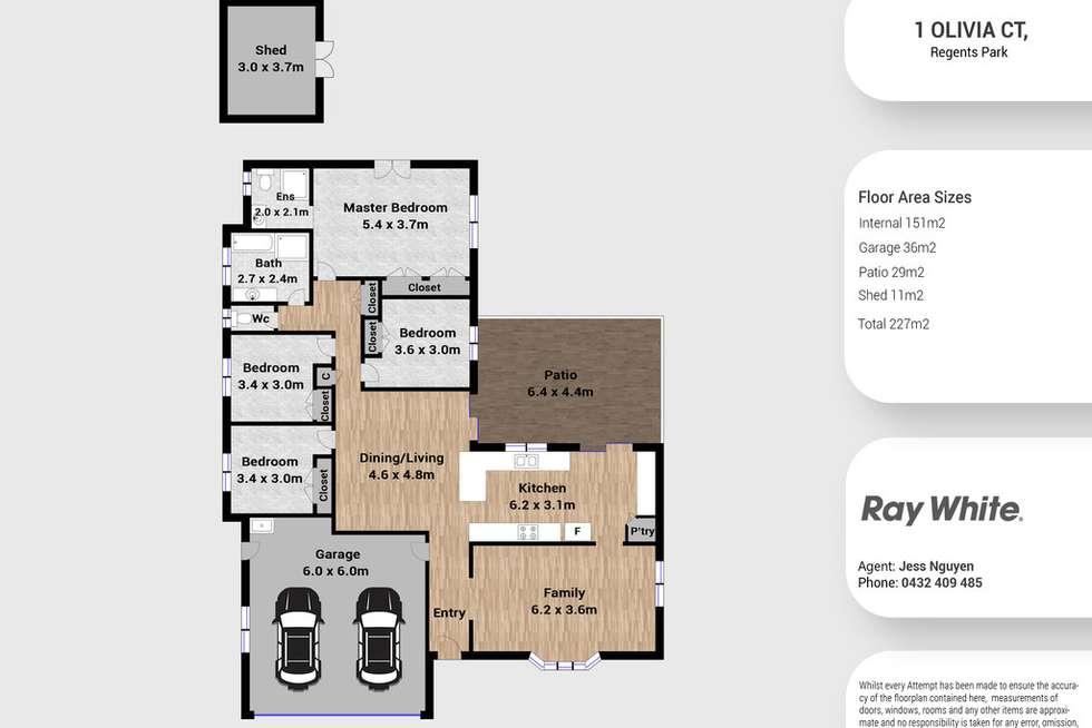 Floorplan of Homely house listing, 1 Olivia Court, Regents Park QLD 4118