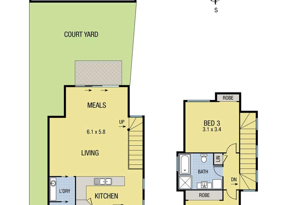 Floorplan of Homely townhouse listing, 1/80 Northernhay Street, Reservoir VIC 3073