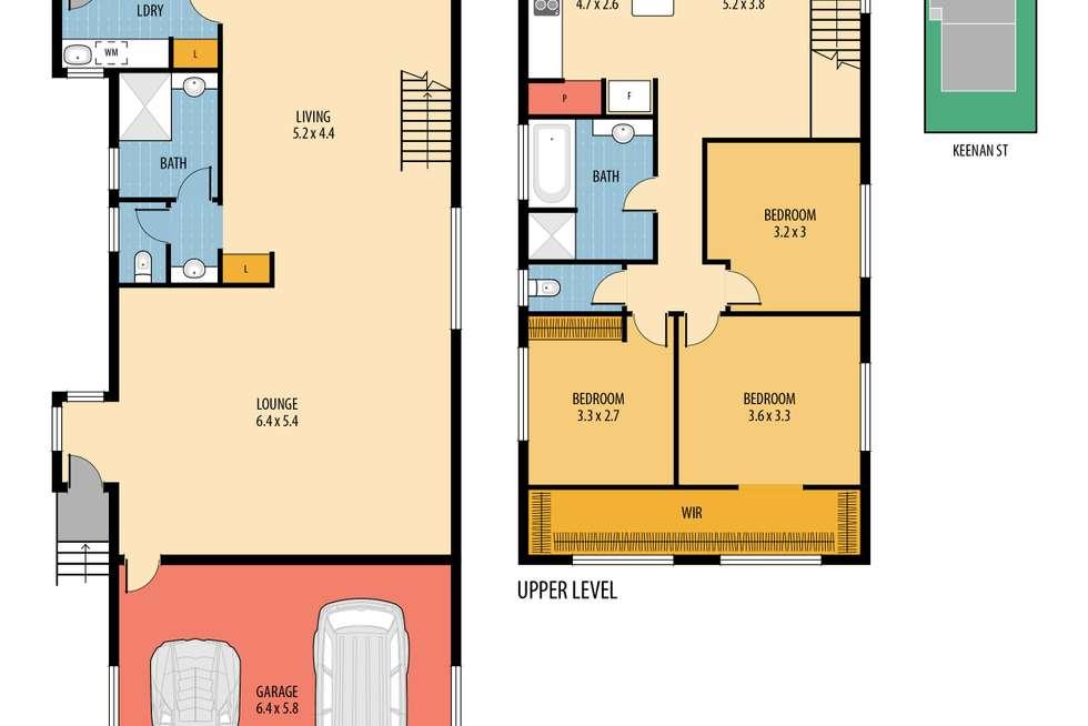 Floorplan of Homely house listing, 44 Keenan Street, Margate QLD 4019