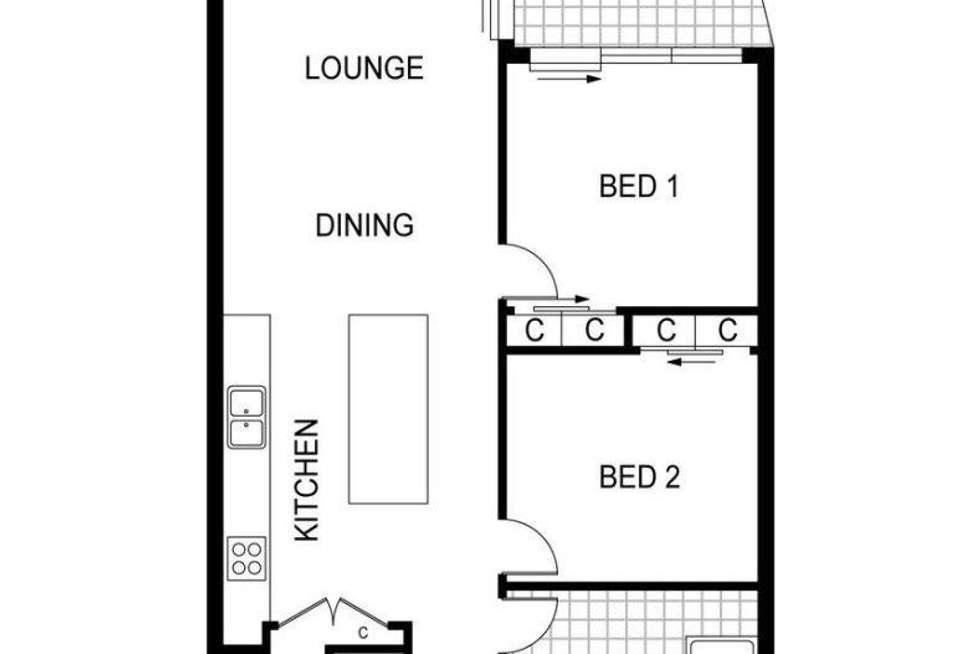 Floorplan of Homely apartment listing, 1211/677 La Trobe Street, Docklands VIC 3008