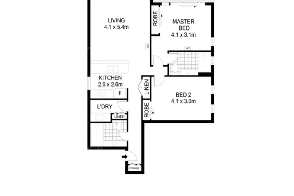 Floorplan of Homely apartment listing, 1604/10 Balfours Way, Adelaide SA 5000