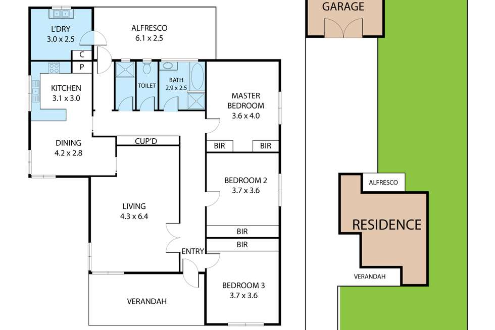Floorplan of Homely house listing, 64 Contour Road, Trafalgar VIC 3824