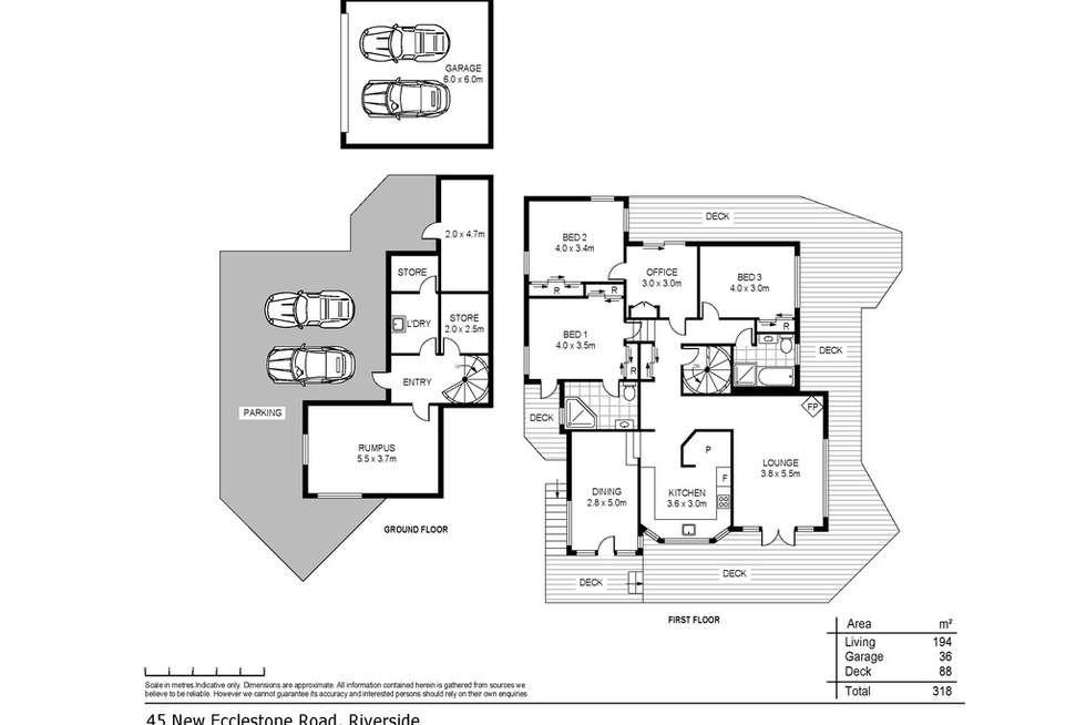Floorplan of Homely house listing, 45 New Ecclestone Road, Riverside TAS 7250
