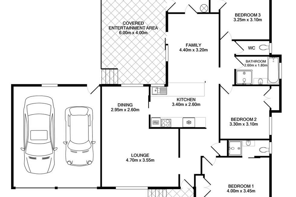 Floorplan of Homely house listing, 24 Flinders Drive, Laurieton NSW 2443