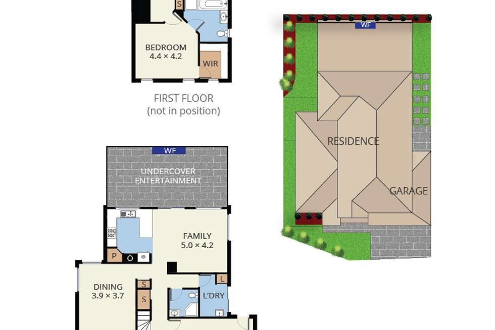 Floorplan of Homely townhouse listing, 25 Amhurst Drive, Narre Warren South VIC 3805