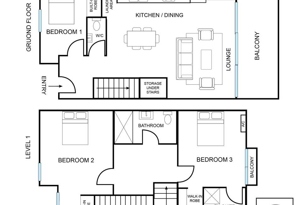 Floorplan of Homely apartment listing, 1/2 Young Street, Annandale NSW 2038