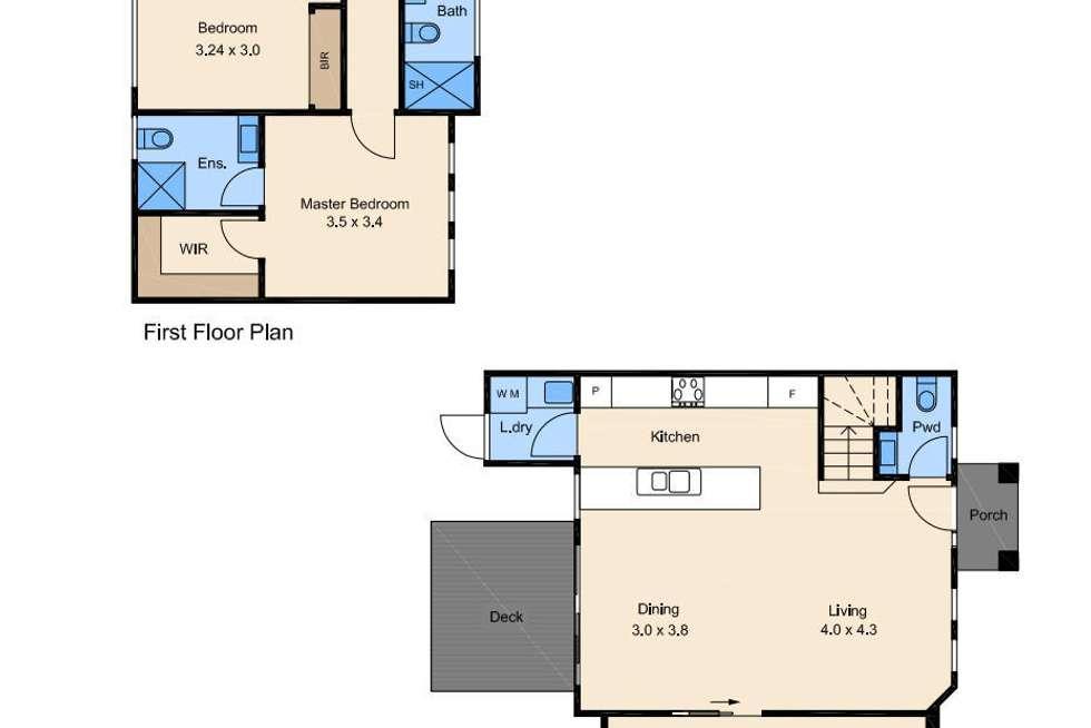 Floorplan of Homely townhouse listing, 3/9 Prospect Street, Glenroy VIC 3046