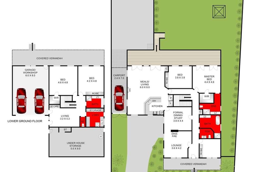 Floorplan of Homely house listing, 3 Mawarra Court, Highton VIC 3216