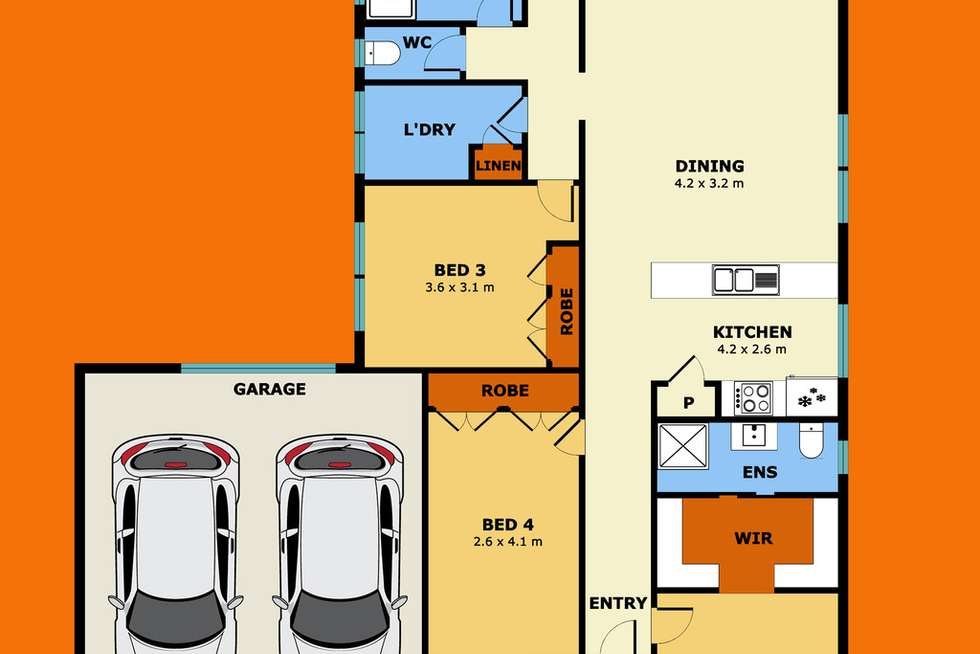 Floorplan of Homely house listing, 16 Brimstone Drive, Tarneit VIC 3029