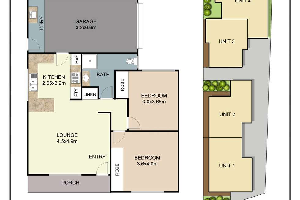 Floorplan of Homely villa listing, 1/27 Memorial Avenue, Blackwall NSW 2256
