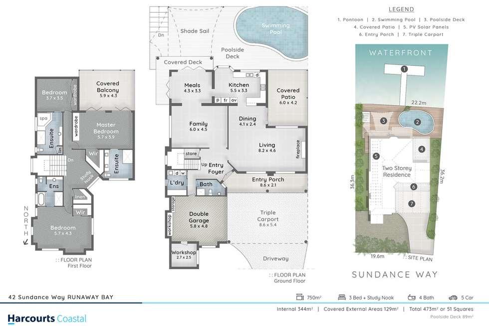 Floorplan of Homely house listing, 42 Sundance Way, Runaway Bay QLD 4216